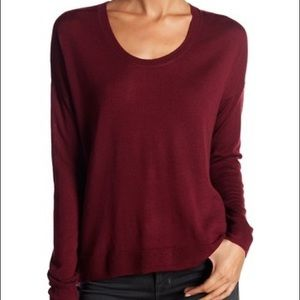 (2/$25) Madewell Long Sleeve Burgundy Pullover